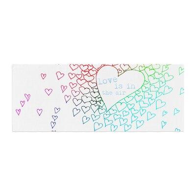 Monika Strigel Rainbow Hearts Bed Runner