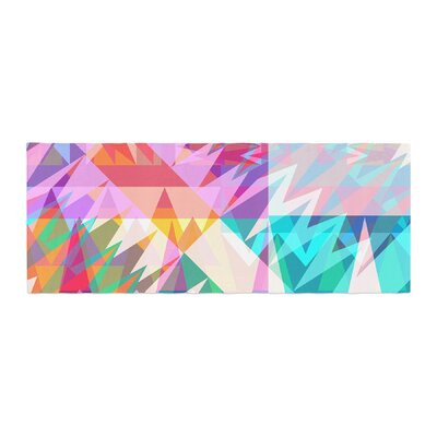 Miranda Mol Triangle Feast Abstract Geometric Bed Runner