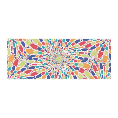 Miranda Mol Flourishing Geometric Bed Runner Color: Blue