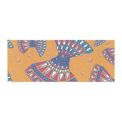 Miranda Mol Tribal Fun Abstract Bed Runner Color: Orange/Tangerine