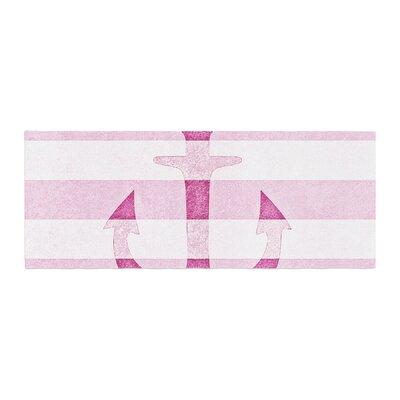 Monika Strigel Stone Vintage Anchor Bed Runner Color: Pink