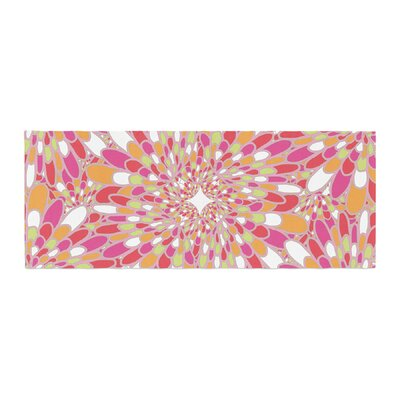 Miranda Mol Flourishing Geometric Bed Runner Color: Pink