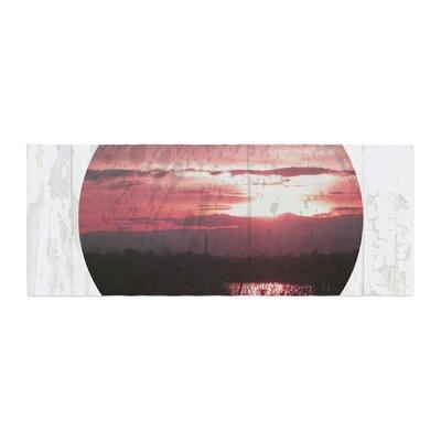 Micah Sager Valley Sunset Splatter Bed Runner