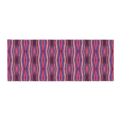 Miranda Mol Watercolor Zigzag Pattern Bed Runner