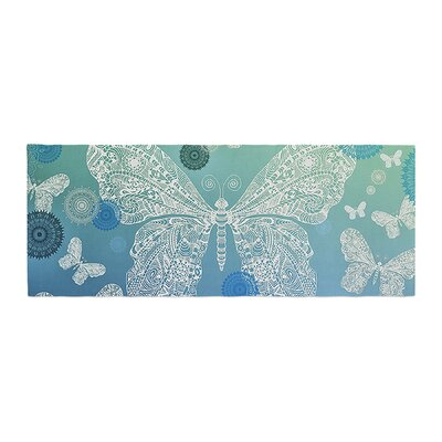 Monika Strigel Butterfly Dreams Bed Runner Color: Ocean
