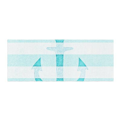 Monika Strigel Stone Vintage Anchor Bed Runner Color: Aqua