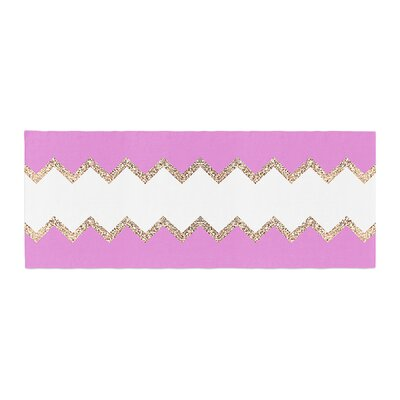 Monika Strigel Avalon Chevron Bed Runner Color: Pink