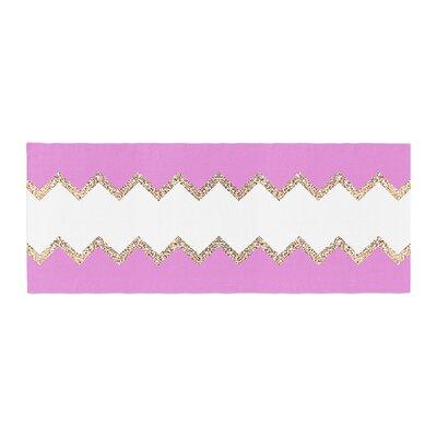 Monika Strigel Avalon Chevron Bed Runner Color: Pink