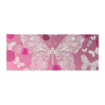 Monika Strigel Butterfly Dreams Bed Runner Color: Magenta