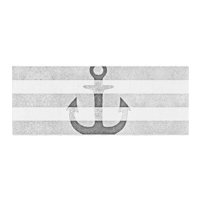 Monika Strigel Stone Vintage Anchor Bed Runner Color: Gray/White