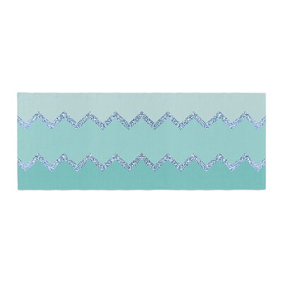Monika Strigel Avalon Ombre Chevron Bed Runner Color: Mint