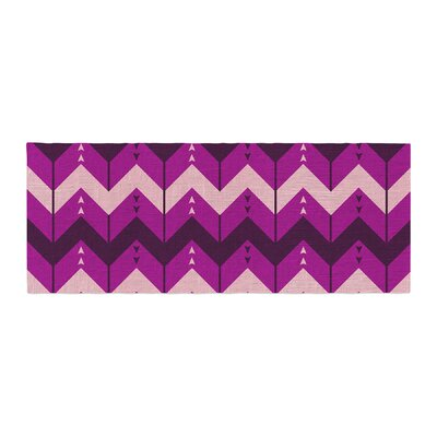 Nick Atkinson Chevron Dance Bed Runner Color: Purple