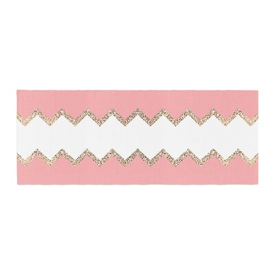 Monika Strigel Avalon Chevron Bed Runner Color: Coral