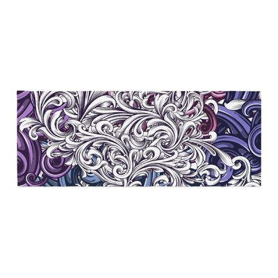 Nick Atkinson Celtic Floral I Abstract Bed Runner