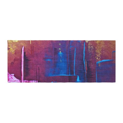 Malia Shields Cityscape Abstracts Bed Runner