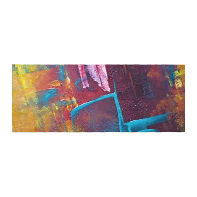 Malia Shields Cityscape Abstracts II Painting Bed Runner