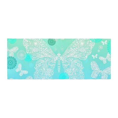 Monika Strigel Butterfly Dreams Bed Runner Color: Mint