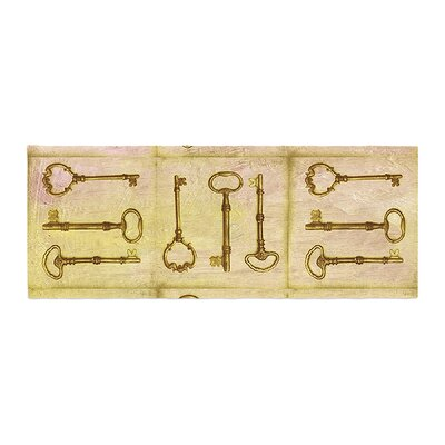 Marianna Tankelevich Secret Keys Bed Runner Color: Tan