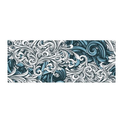 Nick Atkinson Celtic Floral II Abstract Bed Runner