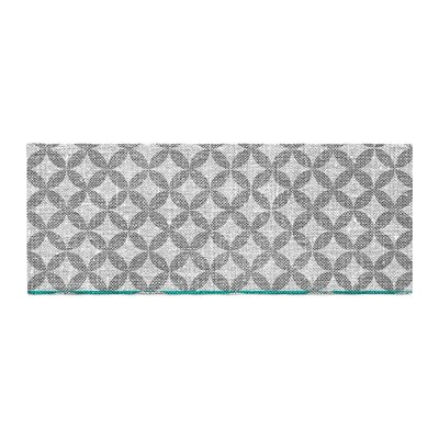 Nick Atkinson Diamond Bed Runner Color: Turquoise
