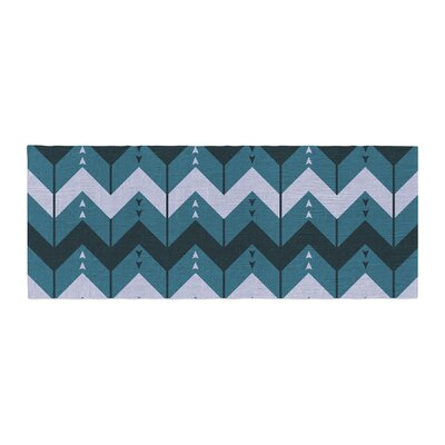 Nick Atkinson Chevron Dance Bed Runner Color: Blue