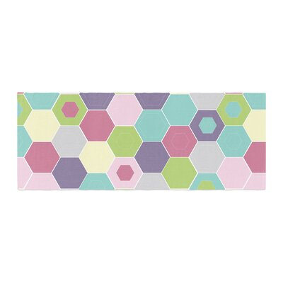 Nicole Ketchum Pale Bee Hex. Bed Runner