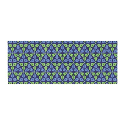 Nick Atkinson Infinite Flowers Bed Runner Color: Blue
