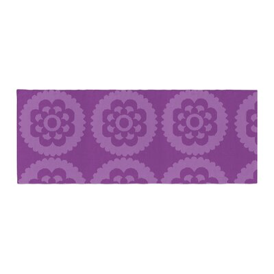 Nicole Ketchum Moroccan Bed Runner Color: Purple