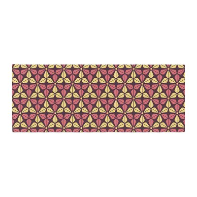 Nick Atkinson Infinite Flowers Bed Runner Color: Red