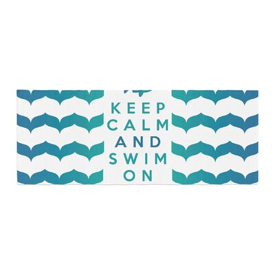 Nick Atkinson Keep Calm and Swim On Bed Runner