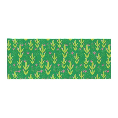 Neelam Kaur Cacti Tropical Inspired Digital Bed Runner