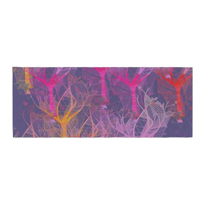 Marianna Tankelevich Colorful Trees Abstract Bed Runner