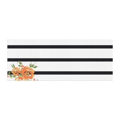 NL Designs Floral Stripes Floral Bed Runner