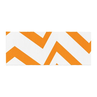 NL Designs Zig Zag Bed Runner Color: Orange