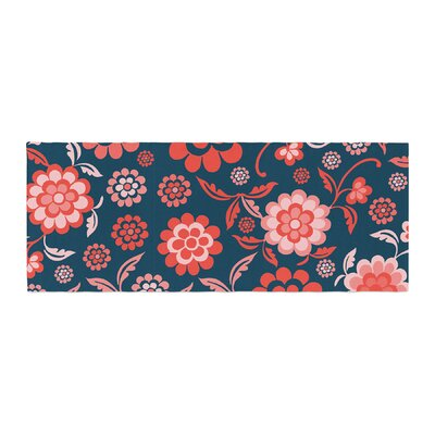 Nicole Ketchum Cherry Floral Midnight Bed Runner