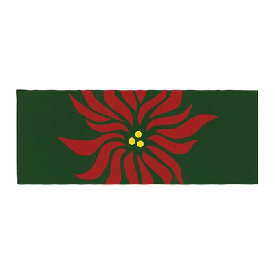 NL Designs Poinsettia Bed Runner