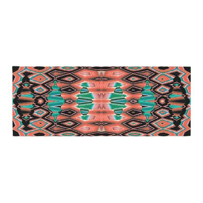 Nina May Deztecca Bed Runner Color: Salmon/Orange Teal