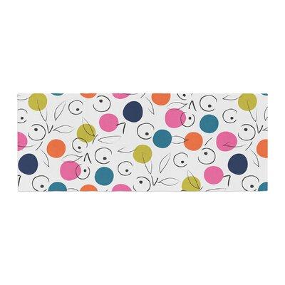 Neelam Kaur Colorful Polka Berries Digital Bed Runner