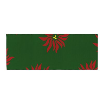 NL Designs Poinsettias Bed Runner