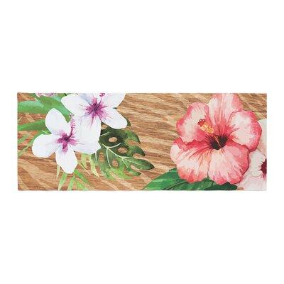 NL designs Vintage Tropical Jungle Floral Bed Runner