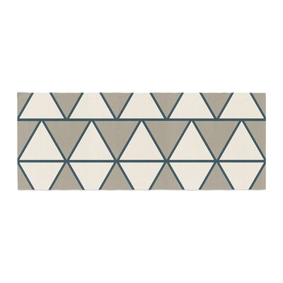 NL designs Sandstone Triangles Geometric Bed Runner