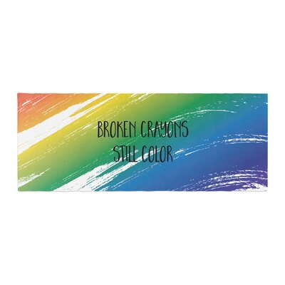 NL designs Broken Crayons Abstract Bed Runner