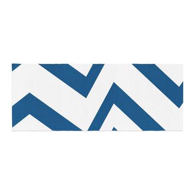 NL Designs Zig Zag Bed Runner Color: Navy