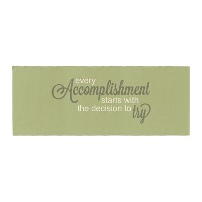 NL designs Accomplishment Typography Bed Runner