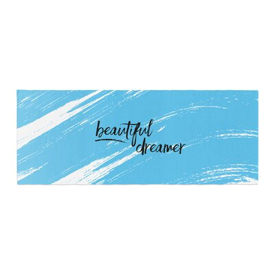 NL designs Beautiful Dreamer Typography Bed Runner