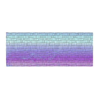 Nina May Drip Dye Cool Strid Geometry Bed Runner