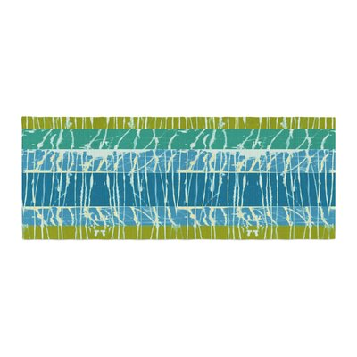 Nina May Ocean Splatter Bed Runner