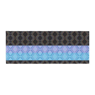 Nina May Denin Diamond Bed Runner Color: Blue Black