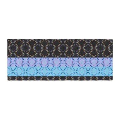 Nina May Denin Diamond Bed Runner Color: Blue Black