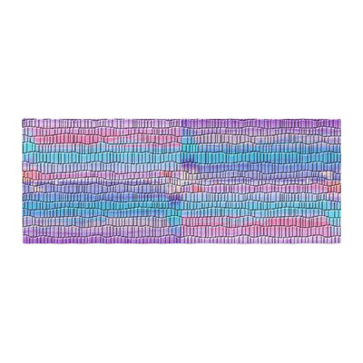 Nina May Drip Dye Strid Abstract Bed Runner
